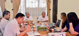 Kunjungan ICON+ ke Kantor BKIPA terkait peningkatan sarana telekomunikasi di Palangka Raya