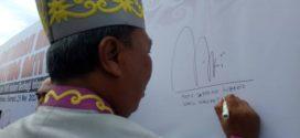 Deklarasi Anti Hoax dan Hate Speech Pada Puncak HUT Kalimantan Tengah