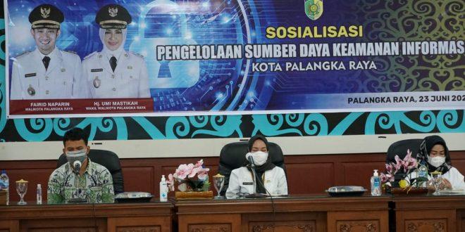 Diskominfo Palangka Raya Gelar Sosialisasi Pengolahan Sumber Daya Keamanan Informasi Tahun 2021